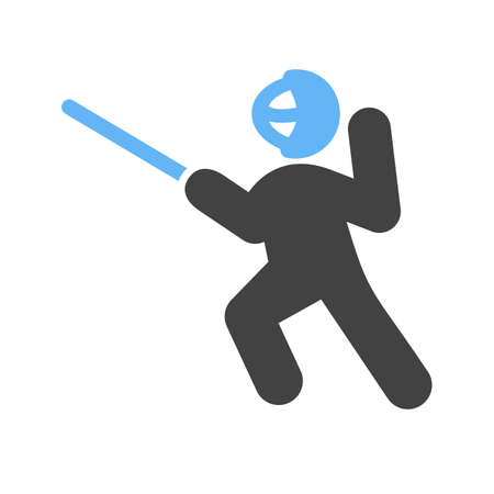 sword fighting: Sword fighting, sword, shield, blade, sports icon vector image. Can also be used for fitness, recreation. Suitable for web apps, mobile apps and print media.