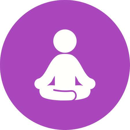 icono deportes: Yoga, aeróbicos, ejercicio, aptitud, icono deportivo vector de imagen. También se puede utilizar para la aptitud, la recreación. Adecuado para aplicaciones web, aplicaciones móviles y los medios impresos. Vectores