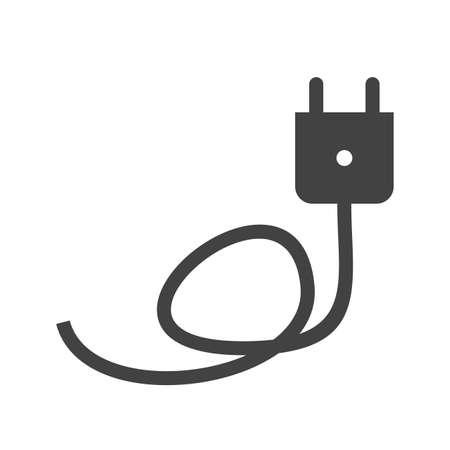 장 전기: Charger, cable, wire icon vector image. Can also be used for energy and technology. Suitable for web apps, mobile apps and print media. 일러스트