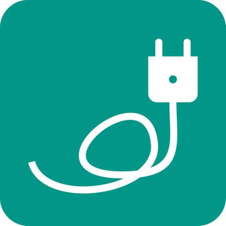 Ladegerät, Kabel, Draht-Symbol Vektor-Bild. Kann Auch Für Energie ...