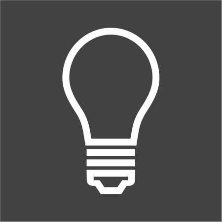 bombillo ahorrador: Bombilla, imagen vectorial luz, icono el�ctrica. Tambi�n se puede utilizar para la energ�a y la tecnolog�a. Adecuado para aplicaciones web, aplicaciones m�viles y los medios impresos. Vectores