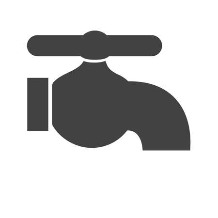 faucet water: Tap, faucet, water icon vector image. Can also be used for energy and technology. Suitable for web apps, mobile apps and print media.
