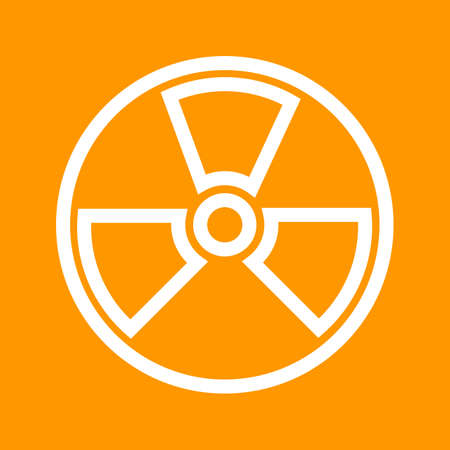 radioactive radiation: Radiation, radioactive, nuclear icon vector image. Can also be used for energy and technology. Suitable for web apps, mobile apps and print media.