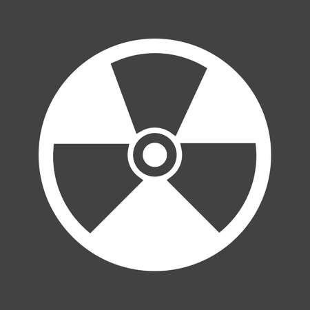 nuclear icon: Radiation, radioactive, nuclear icon vector image. Can also be used for energy and technology. Suitable for web apps, mobile apps and print media.