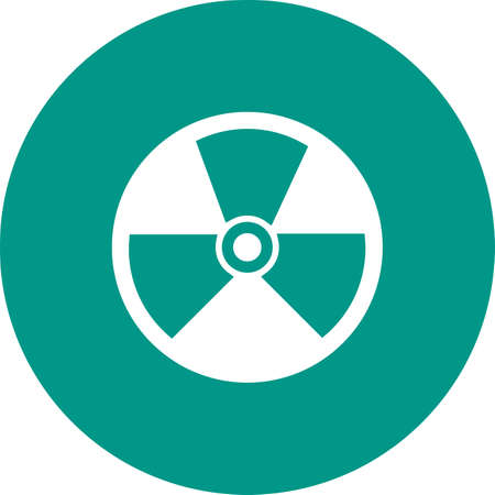 environmental hazard: Radiation, radioactive, nuclear icon vector image. Can also be used for energy and technology. Suitable for web apps, mobile apps and print media.