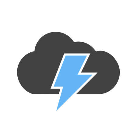 bolt: Cloud, thunder, bolt icon vector image. Can also be used for energy and technology. Suitable for web apps, mobile apps and print media.