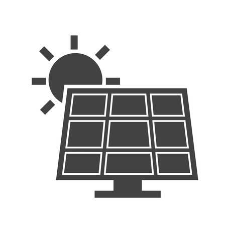 太陽電池パネル, エネルギー アイコン ベクター画像。エネルギーと技術の使用もできます。Web アプリ、携帯アプリ、印刷メディアに適しています。