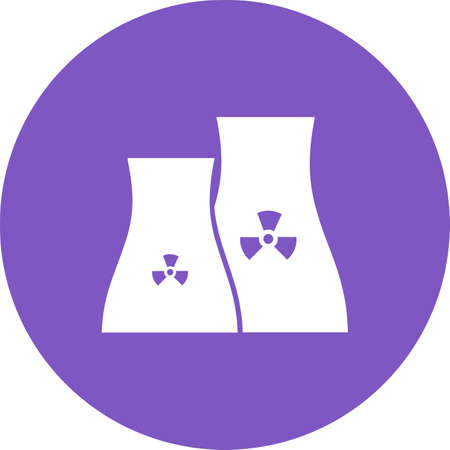 Nuclear, power, plant icon vector image. Can also be used for energy and technology. Suitable for web apps, mobile apps and print media.