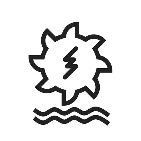 hydro power: Hydro power, water, dam icon vector image. Can also be used for energy and technology. Suitable for web apps, mobile apps and print media.
