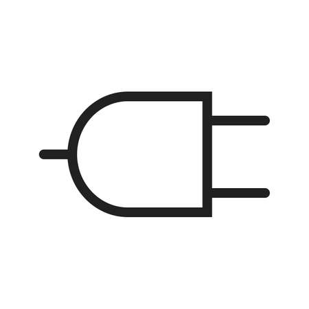 wire pin: Plug, wire, two pin socket icon vector image. Can also be used for energy and technology. Suitable for web apps, mobile apps and print media. Illustration