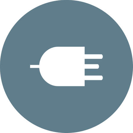 wire pin: Plug, wire, three pin socket icon vector image. Can also be used for energy and technology. Suitable for web apps, mobile apps and print media. Illustration