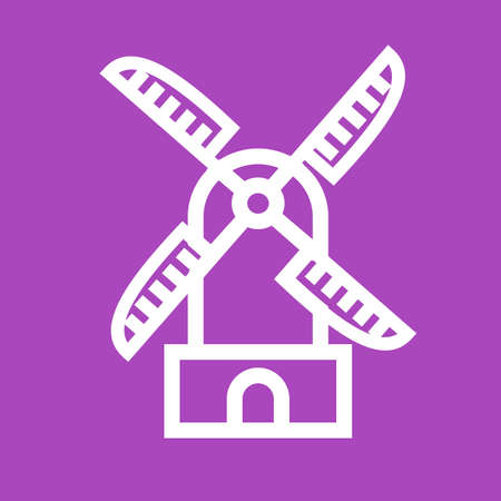 wind mill: Wind mill, wind, energy, turbine icon vector image. Can also be used for energy and technology. Suitable for web apps, mobile apps and print media.