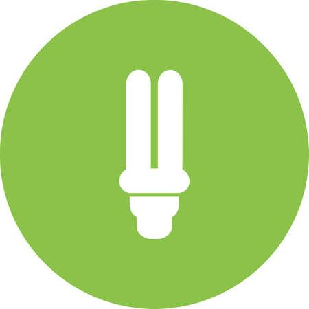 bombillo ahorrador: Bulbo, ahorro de energía, la imagen del vector icono eléctrica. También se puede utilizar para la energía y la tecnología. Adecuado para aplicaciones web, aplicaciones móviles y los medios impresos. Vectores