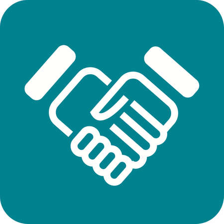 business partnership: Handshake, partnership, deal icon vector image. Can also be used for real estate, property, land and buildings. Suitable for mobile apps, web apps and print media.