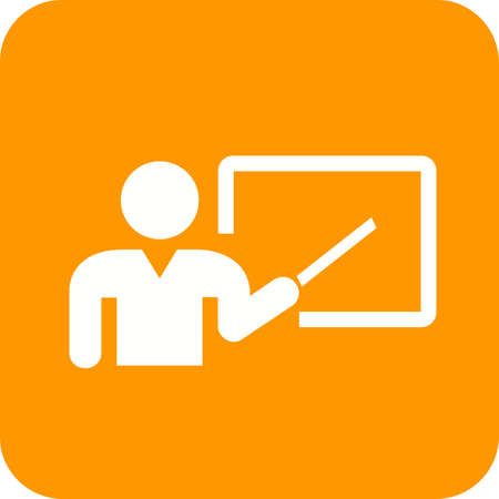 tutor: Lecturer, professor, tutor icon vector image. Can also be used for education, academics and science. Suitable for use on web apps, mobile apps, and print media. Illustration
