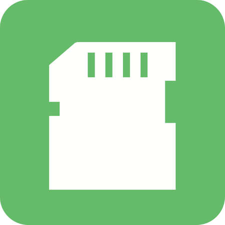 backups: SD card, memory card, card icon vector image. Can also be used for computer and hardware. Suitable for use on web apps, mobile apps and print media.
