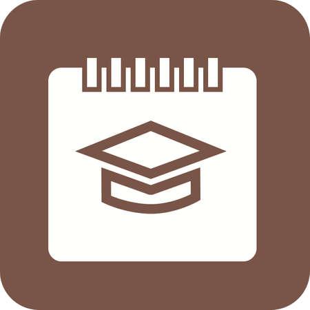 알림: Timetable, schedule, event, notification,icon vector image. Can also be used for education, academics and science. Suitable for use on web apps, mobile apps, and print media.