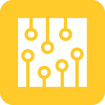 capacitor: Circuit, ic, processor icon vector image. Can also be used for computer and hardware. Suitable for use on web apps, mobile apps and print media.