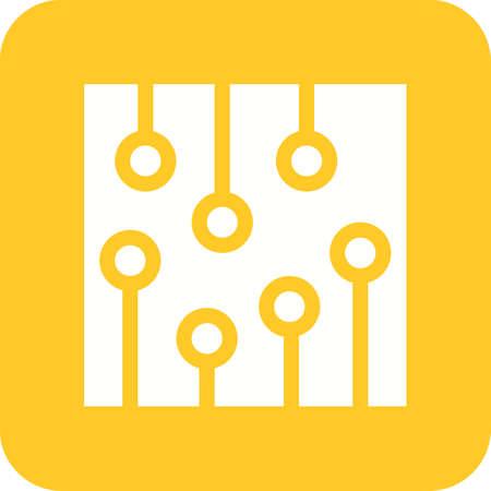 Kondensator, Chip, Elektronische Symbol Vektor-Bild. Kann Auch Für ...
