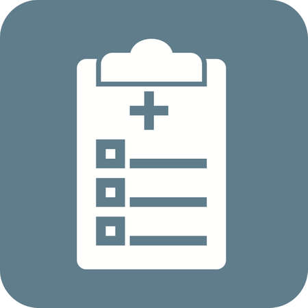 patient chart: Medical chart, report, medical history icon vector image. Can also be used for healthcare and medical. Suitable for mobile apps, web apps and print media.
