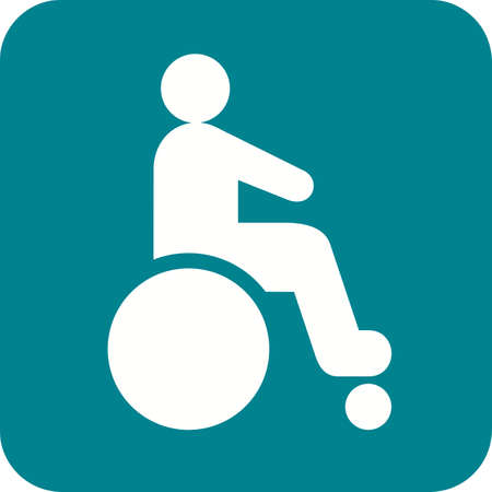 injure: Disabled person, paralyze icon vector image. Can also be used for healthcare and medical. Suitable for mobile apps, web apps and print media.