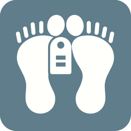 corpse: Feet, tag, dead, dead person icon vector image. Can also be used for healthcare and medical. Suitable for mobile apps, web apps and print media.