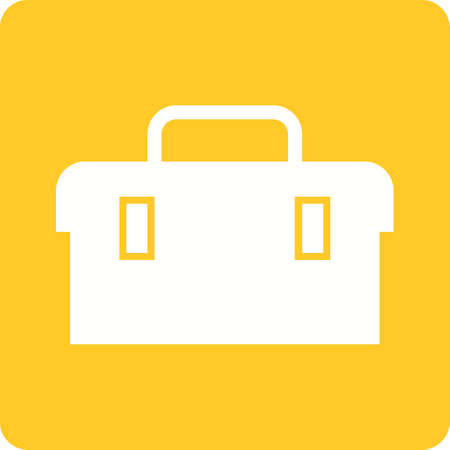 toolkit: Toolbox, kit, toolkit icon vector image. Can also be used for construction, interiors and building. Suitable for use on web apps, mobile apps and print media. Illustration