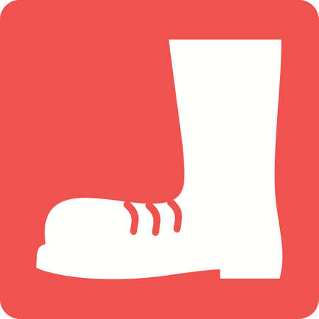 boot print: Boot, shoes, construction boots icon vector image. Can also be used for construction, interiors and building. Suitable for use on web apps, mobile apps and print media. Illustration
