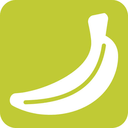 flesh: Fruit, bananas, fresh icon vector image. Can also be used for eatables, food and drinks. Suitable for use on web apps, mobile apps and print media Illustration