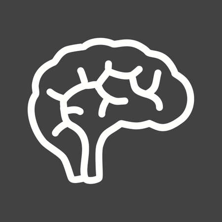 cns: Brain, neurology, neuro icon vector image. Can also be used for healthcare and medical. Suitable for mobile apps, web apps and print media.