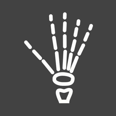 finger bones: X ray, bones, skeletonicon vector image. Can also be used for healthcare and medical. Suitable for web apps, mobile apps and print media.