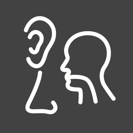 Ear, nose, throat, ent, icon vector image. Can also be used for healthcare and medical. Suitable for web apps, mobile apps and print media.
