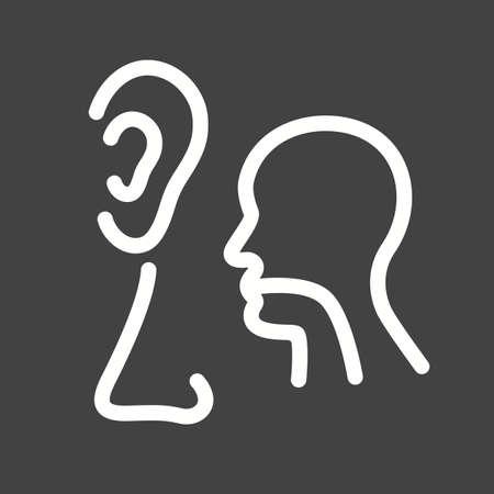 Oor, neus, keel, ent, pictogram vector afbeelding. Kan ook gebruikt worden voor de gezondheidszorg en medische. Geschikt voor web apps, mobiele apps en gedrukte media. Stock Illustratie