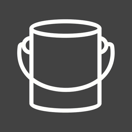pail tank: Pant box, bucket, paint bucket icon vector image. Can also be used for construction, interiors and building. Suitable for use on web apps, mobile apps and print media.