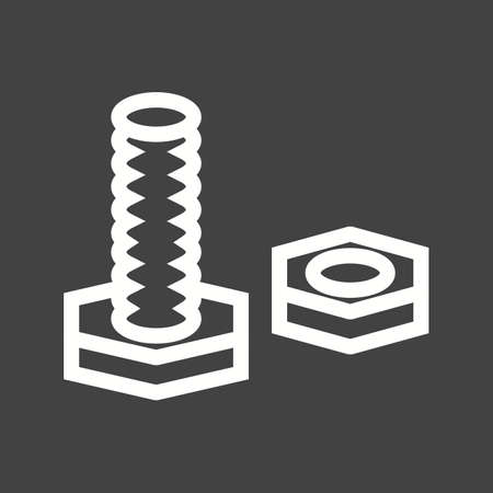hardware icon: Nut, bolt, tools, hardware  icon vector image. Can also be used for construction, interiors and building. Suitable for use on web apps, mobile apps and print media