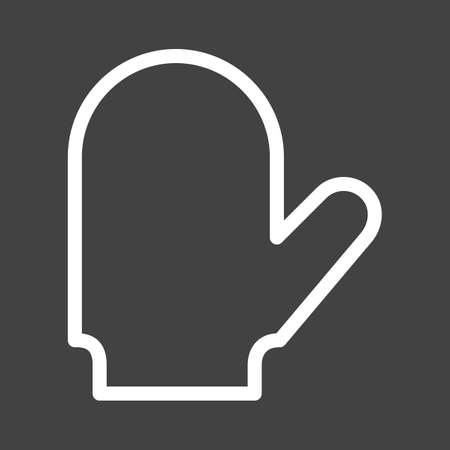 Baking glove, glove, cooking icon vector image. Can also be used for eatables, food and drinks. Suitable for use on web apps, mobile apps and print media
