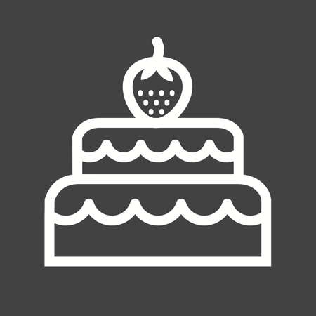 layer cake: Chocolate, cake, coconut icon vector image.