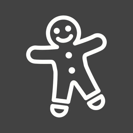 baked: Gingerbread, christmas, baked icon vector image. Illustration