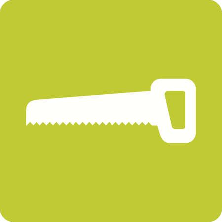 serrucho: Serrucho, el equipo, la imagen del icono del vector de la hoja.