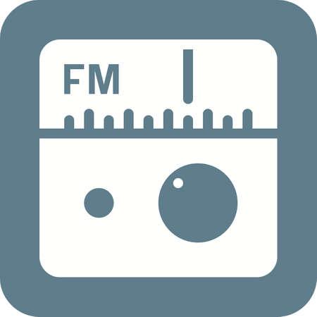 fm: Radio, FM, antenna icon vector image.