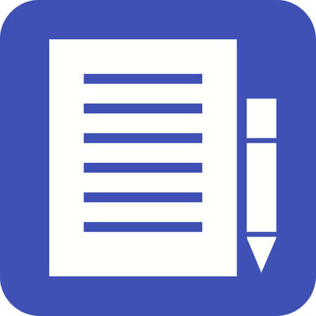 memory board: Note, list, office icon vector image.