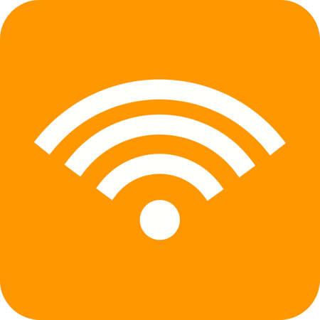 wireless signal: Wifi, signal, wireless icon vector image.