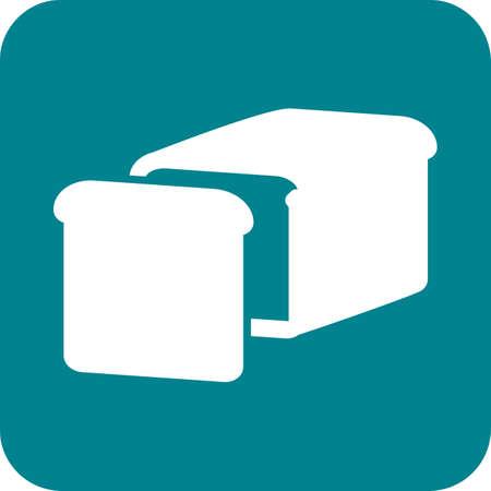 sliced: Pan, cereales, icono rodajas imagen vectorial.