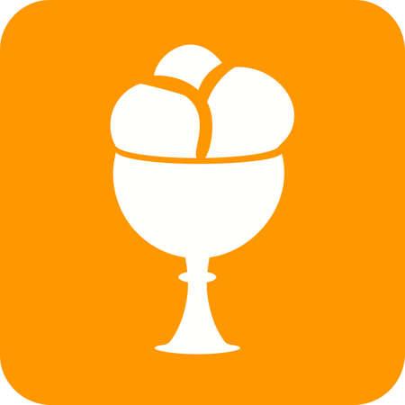 goblet: Cream, goblet, icecream icon vector image.