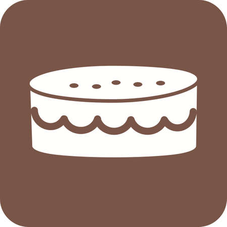 Cake, mince, sweet icon vector image.