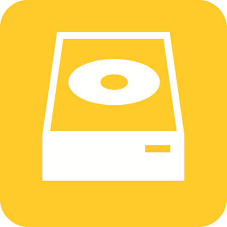dvd player: Dvd, cd, player icon vector image.