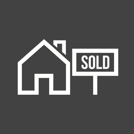 sold: Sold, house, sale icon vector image.