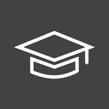 gatherings: Graduation, hat, celebration icon vector image.