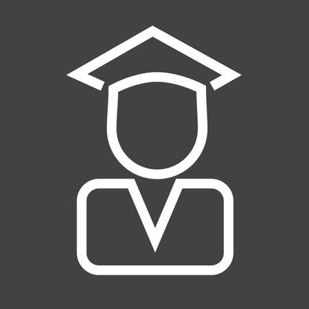gatherings: Certificate, diploma, convocation, degree icon vector image. Illustration