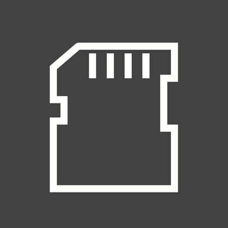 backups: SD card, memory card, card icon vector image.